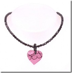 Pink Lace Heart Pendant