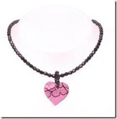 Pink Lace Heart Pendant