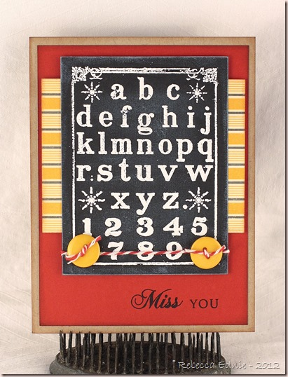 school chalkboard miss you card