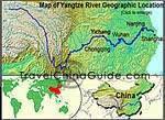 China Yangtze River Map