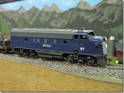 IMG_5622 Waterville Plateau F7A #67 on the LK&R HO-Scale Layout at the WGH Show in Portland, OR on February 18, 2007