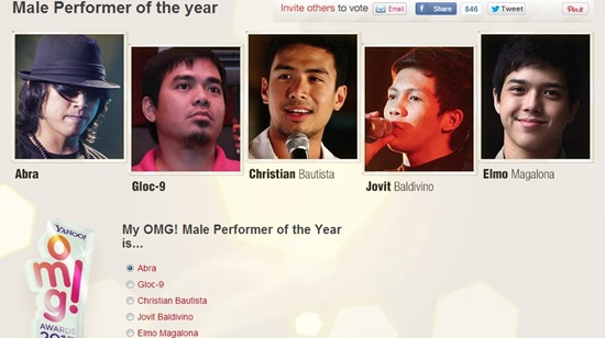 male performer of the year