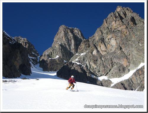 Circo Sur del Midi d'Ossau con esquis (Portalet, Pirineo Frances) (Isra) 7747