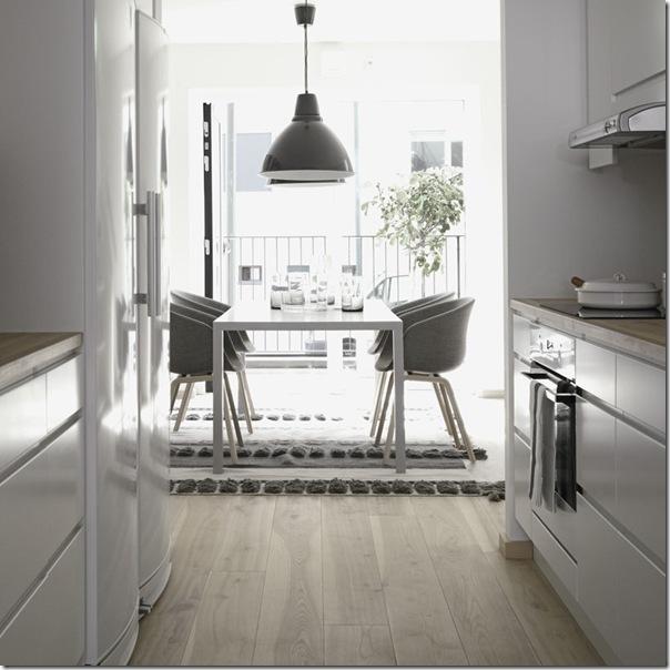 case e interni - stile minimal contemporaneo - grigio - legno decapato (4)