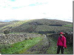 Wansfell Pike--hiking up