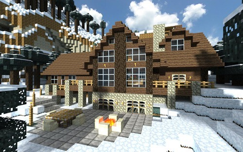 minecraft-winter-cabin