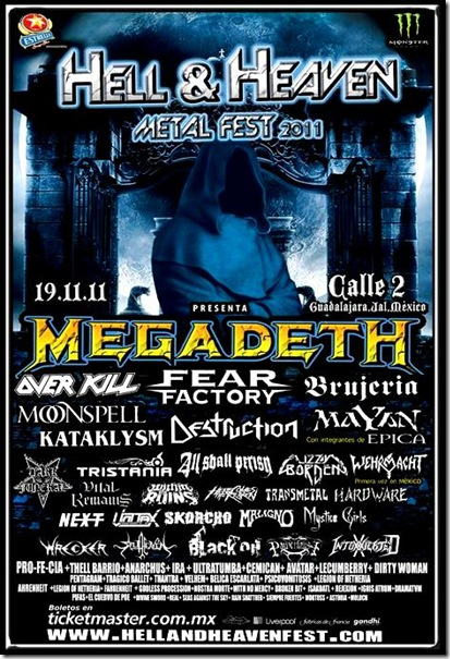 Cartel hell and heaven metal fest 2011