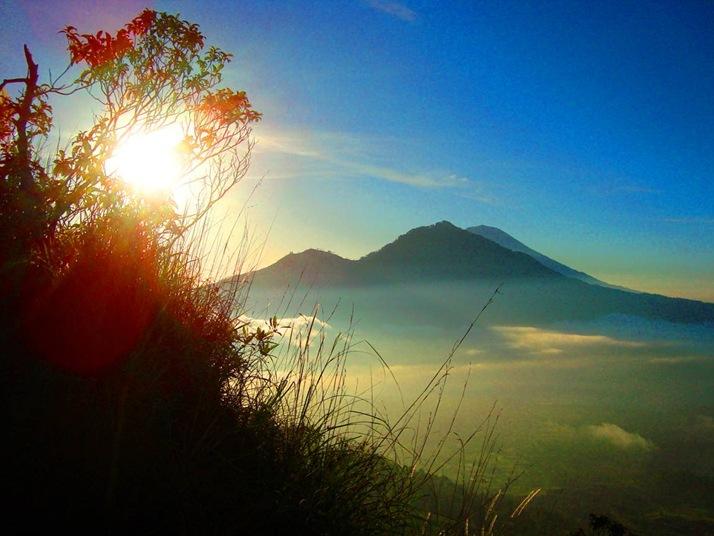 In the shadow of Mt. GUNUNG AGUNG at Sunrise.