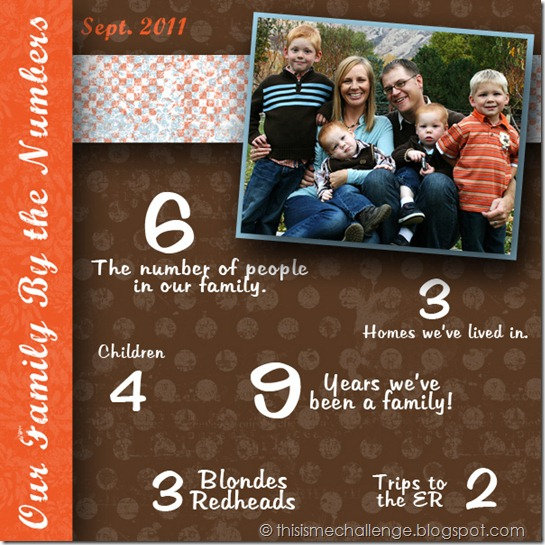our family by the numbers i