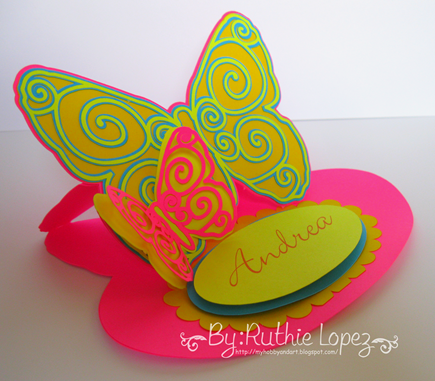 Butterfly Easel Card - Scrap Chick - Ruthie Lopez