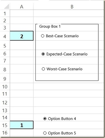 Form Controls in Excel - New Group