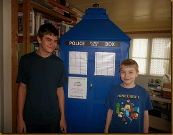 TARDIS front finished withM&M
