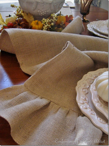 I Was Really Excited To Find Out That You Can Order Toweling Since My  Beloved Ruffled Burlap Table Runner (tutorial Here) Was Looking A Little  Heavy For The ...