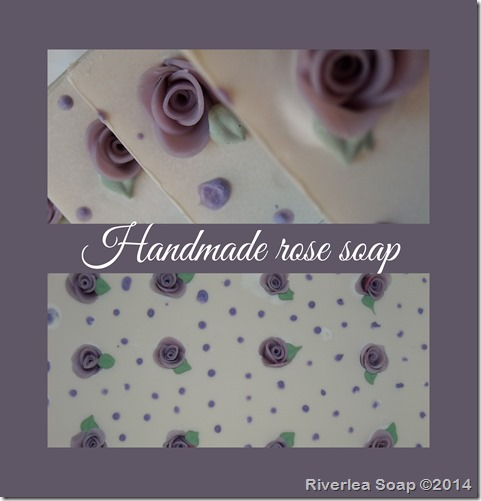 Handmade Rose Soap Lilac-019