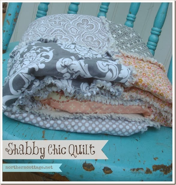 {Northern Cottage} romantic shabby chic quilt
