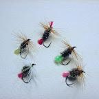 12. Yellow, Green, Orange Tag, oraz Bradshaw's Fancy z dodatkowym czerwonym chwościkiem przed jeżynką, oraz Red Tag White - z białą jeżynką.