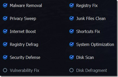 vulnerability menu pada Advanced SystemCare 6