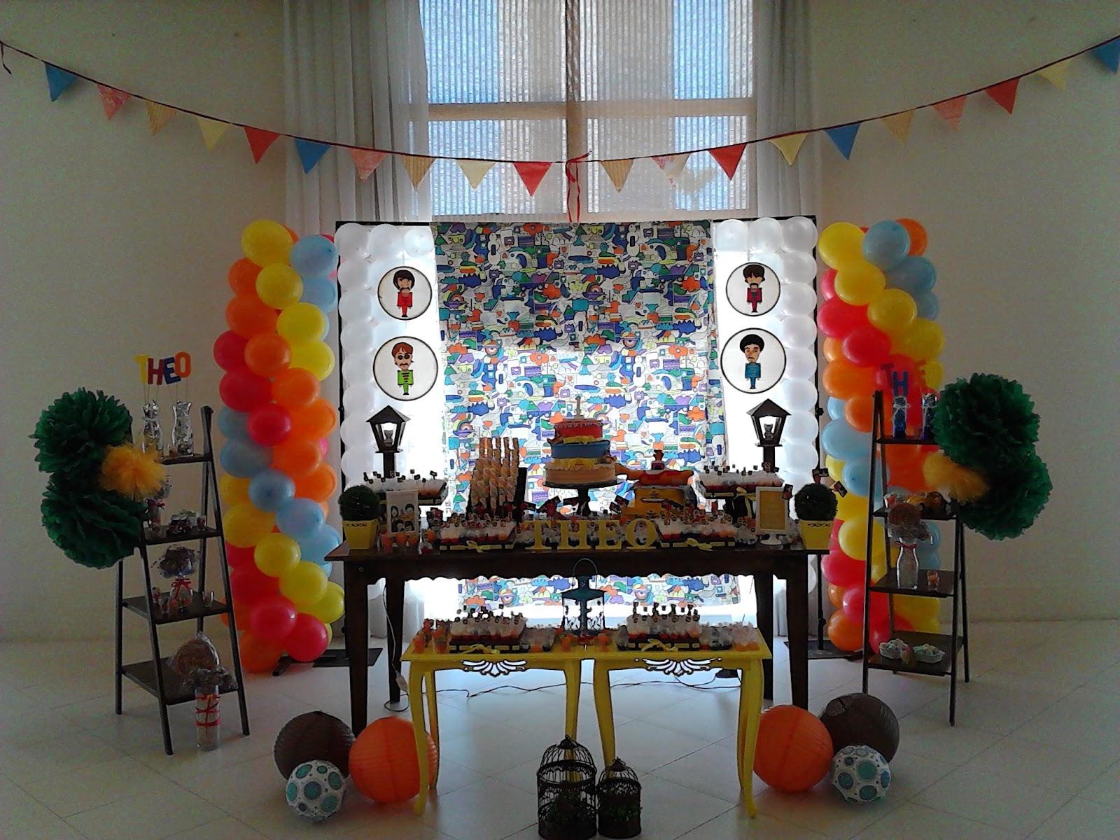 decoracao festa infantil yellow submarine:YELLOW SUBMARINE – Beatles