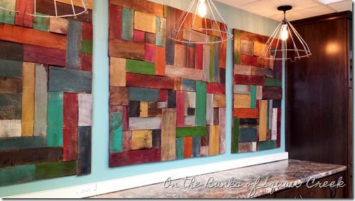 Cool pottery barn painted pieced wood wall art knock off