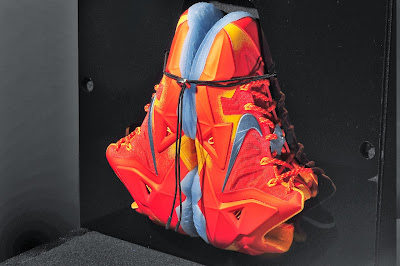 nike lebron 11 gr atomic orange 4 10 forging iron New Look at Forging Iron LeBron XI and Its Sick Packaging!