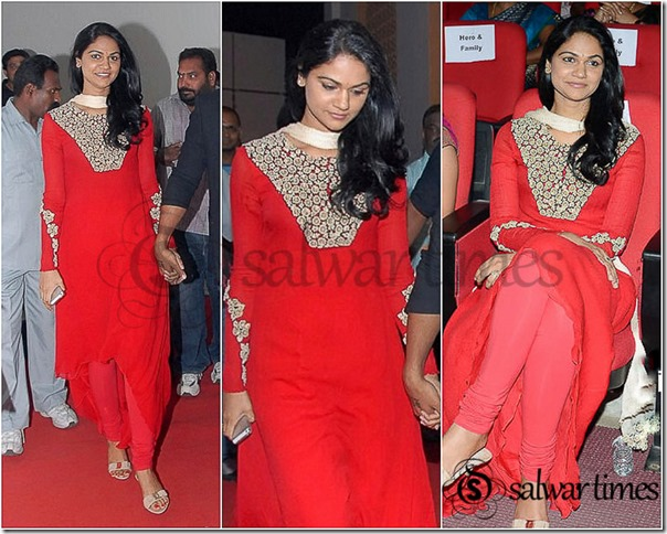 Sneha_Reddy_Red_Salwar_Kameez