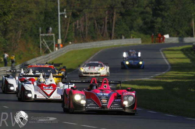 The P2 OAK Racing Morgan leads a long line of cars (PHOTO:  JEAN MICHEL LE MEUR / DPPI)