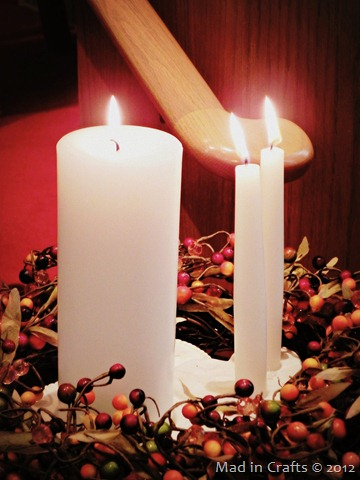 Unity Candle with Fall Wreath