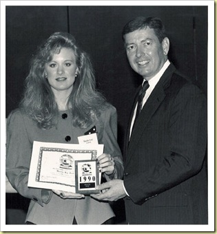 Sharida with John Ashcroft 1990