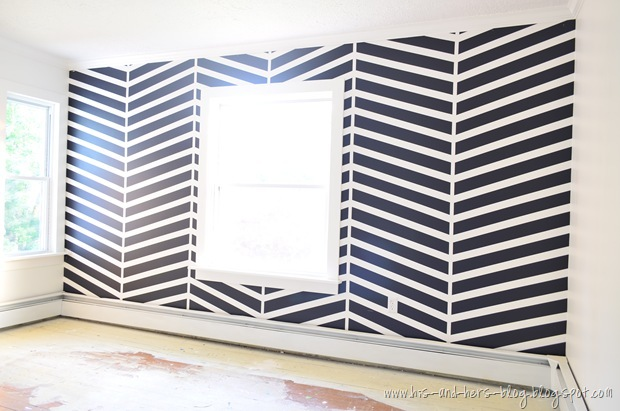 herringbone accent wall (3)
