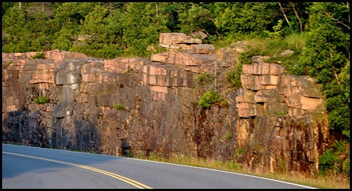 04d - Cadillac Summit Road, beautiful and curvy, Pink Granite