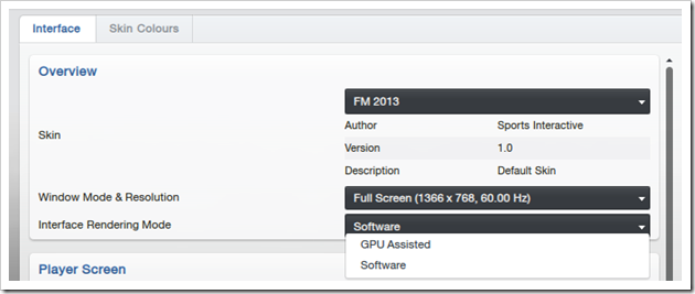 Football Manager 2013_ Preferences Interface