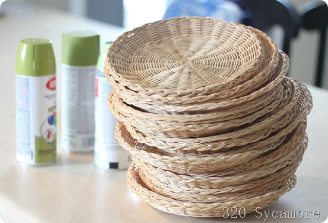 paper plate holders   spray paint