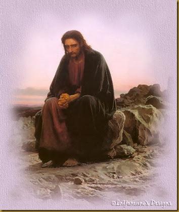JESUS SOLO EN DESIERTO