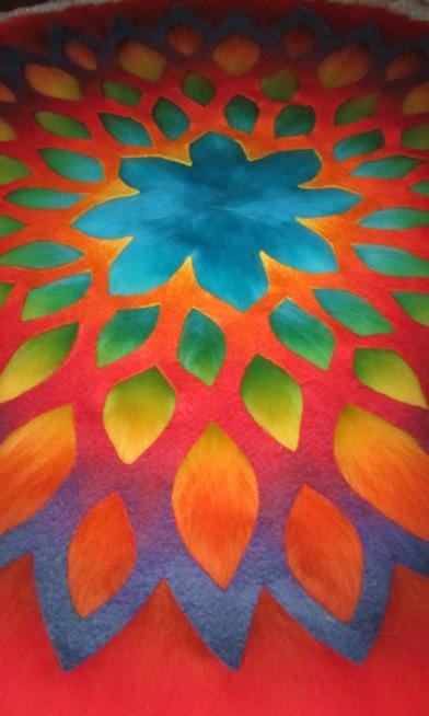 Blütenmandala ausgelegt