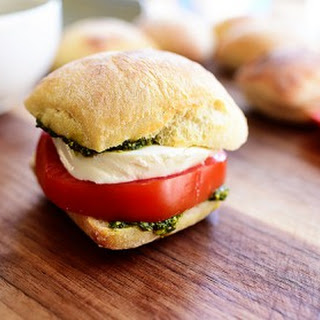 Pesto, Tomato, and Mozzarella Sandwich