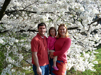 Family picture by the cherry blossoms. (March)