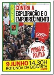 Manifestação CGTP Porto Jun.2012