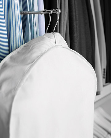 A valet hook can be used to hold dry cleaning or an outfit for the following day. And I can't stress enough how important it is to put clothing on hangers designed specifically for the particular type of item. It will extend the life of your clothes.