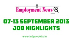 Employment News Paper 7th-13th September 2013
