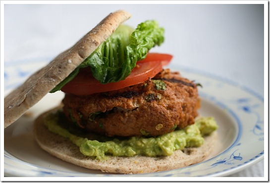 Chipotle Salsa Turkey Burgers