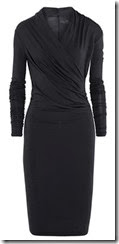 Day Birger et Mikkelsen Black Wrap Effect Dress