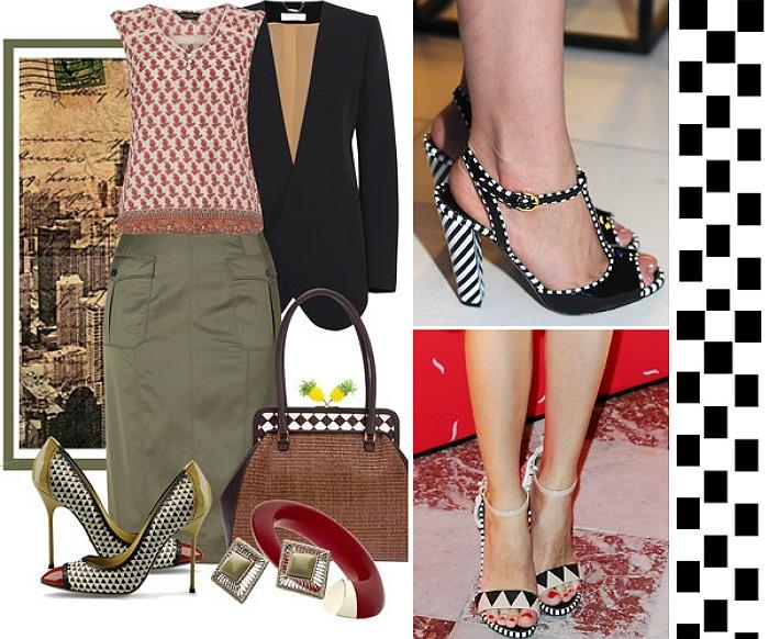 como usar estampas geometricas looks sapatos 2