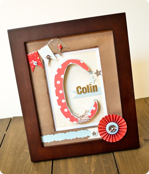 Framed Monogram For Baby Boy Room