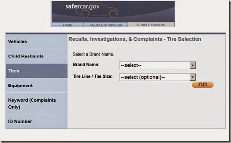 safercar.gov recall check