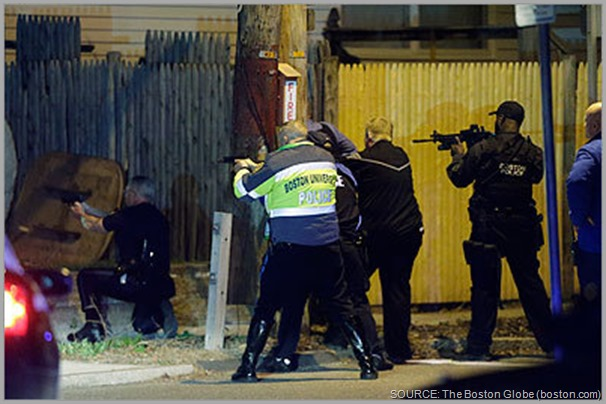 Gun battle and standoff in Watertown, MA. CLICK for more images and coverage.