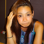 funny face at the Izakaya party in Roppongi with my friends in Tokyo, Tokyo, Japan