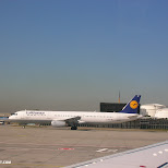 lufthansa aircraft in Mississauga, Ontario, Canada