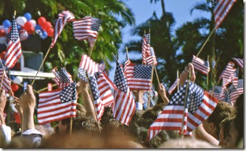 american-flags-waving