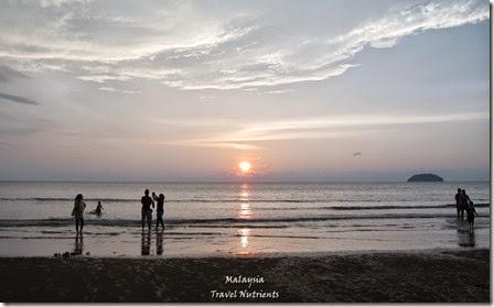 沙巴亞庇丹容亞路海灘夕陽 Perdana Park音樂水舞 (7)
