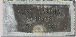 Aunt Martha Roberts grave